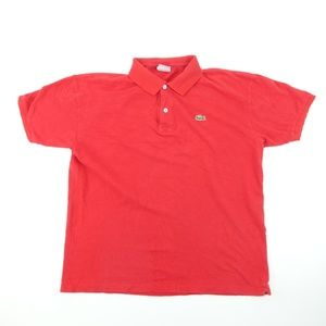Vintage Lacoste Men Sz XXL 8 Red Polo Shirt A5314